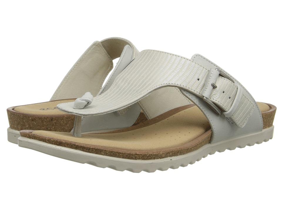 ECCO - Dagmar Thong (Shadow White/Shadow White) Women's Shoes