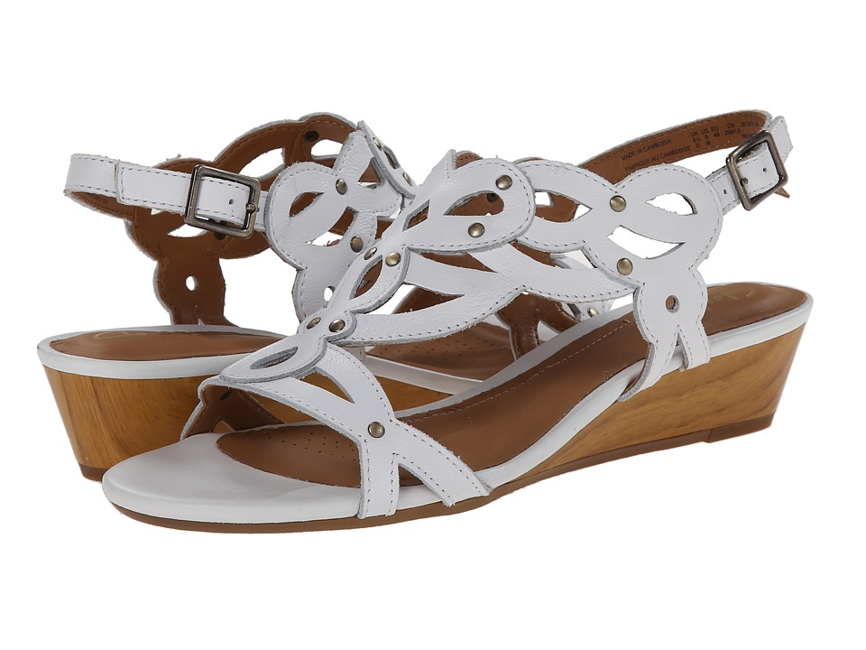 Clarks - Playful Tunes (White Leather) Women's Sandals