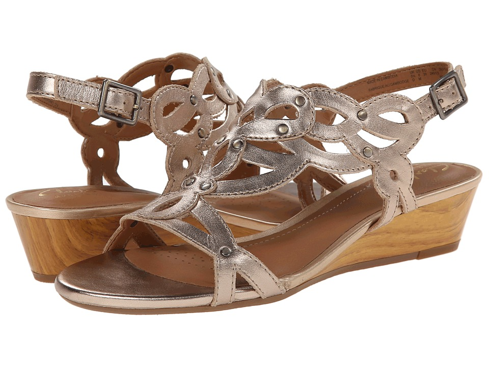 Clarks - Playful Tunes (Gold Leather) Women's Sandals