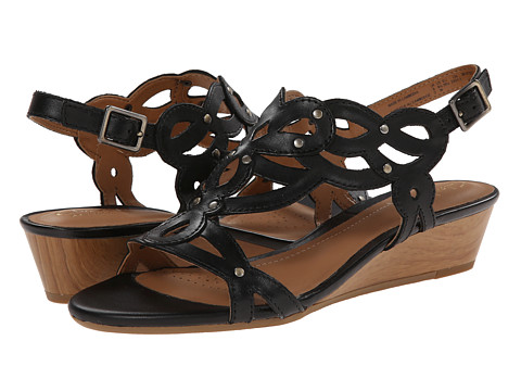 Clarks - Playful Tunes (Black Leather) Women's Sandals