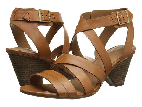 Clarks - Ranae Estelle (Cognac Leather) Women's Sandals