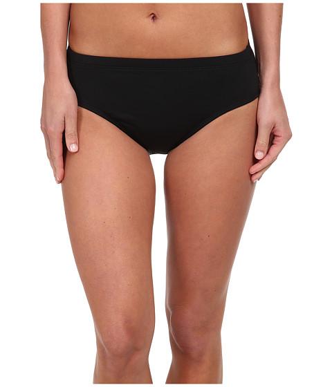 La Blanca - Core Solid Hi-Waist Pant w/ Tummy Toner (Black) Women's Swimwear