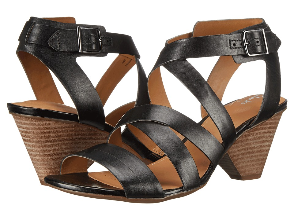 Clarks - Ranae Estelle (Black Leather) Women's Sandals