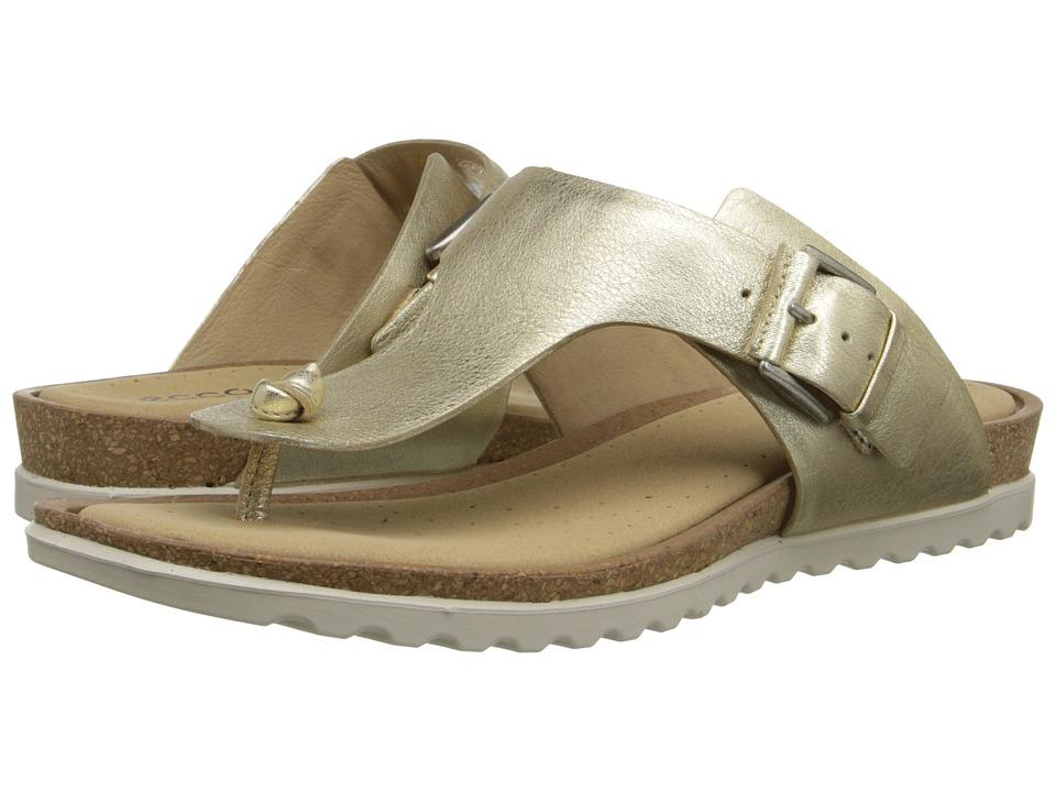 ECCO - Dagmar Sandal (Light Gold) Women's Sandals plus size,  plus size fashion plus size appare