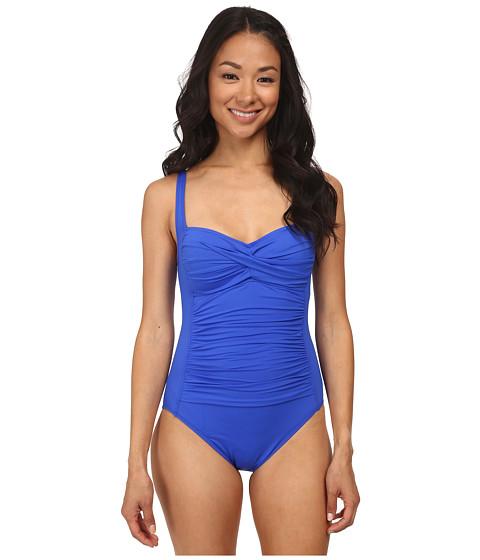 La Blanca - Core Solid OTS One Piece w/ Foam Cups Adjustable Straps (Cobalt/Cobalt/Academy) Women's Swimsuits One Piece