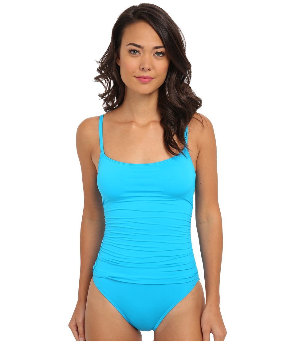 La Blanca - Core Solid Lingerie Mio w/ Removable Cups Adjustable Straps (Turquoise) Women's Swimsuits One Piece