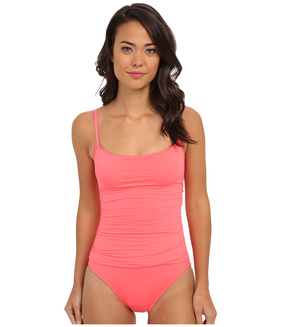 La Blanca - Core Solid Lingerie Mio w/ Removable Cups Adjustable Straps (Guava) Women's Swimsuits One Piece