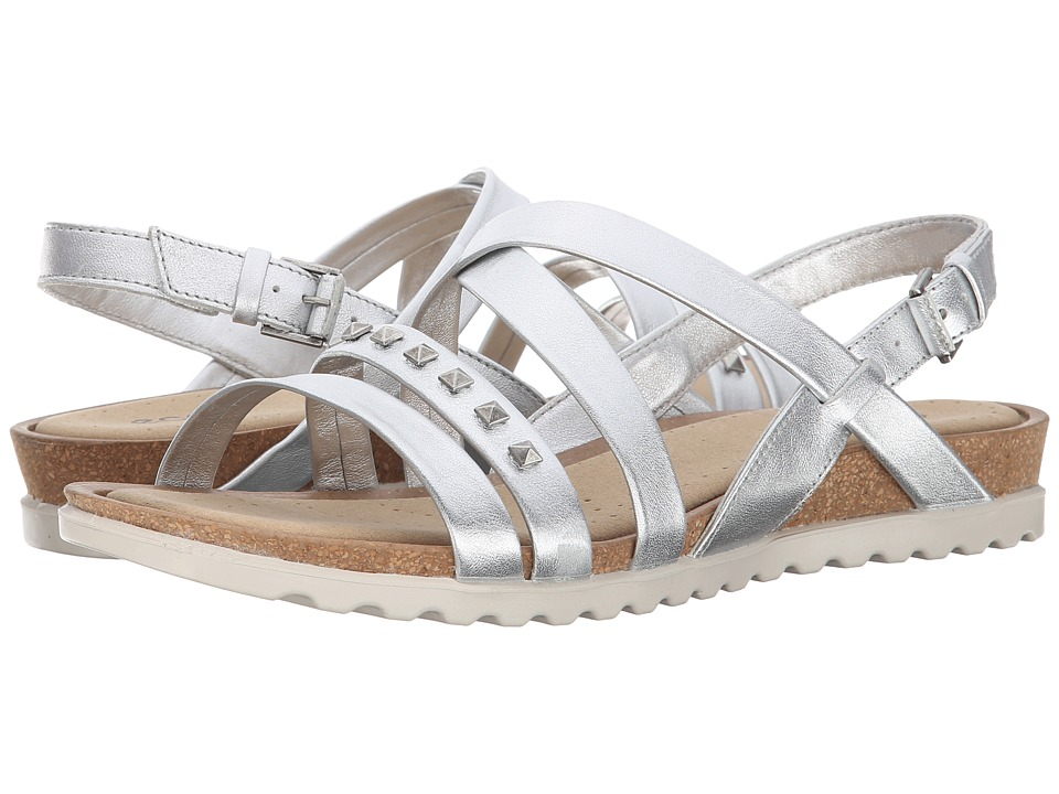 ECCO Dagmar Cross Sandal (Light Silver) Women