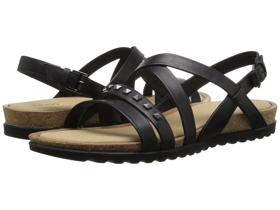 ECCO - Dagmar Cross Sandal (Black) Women