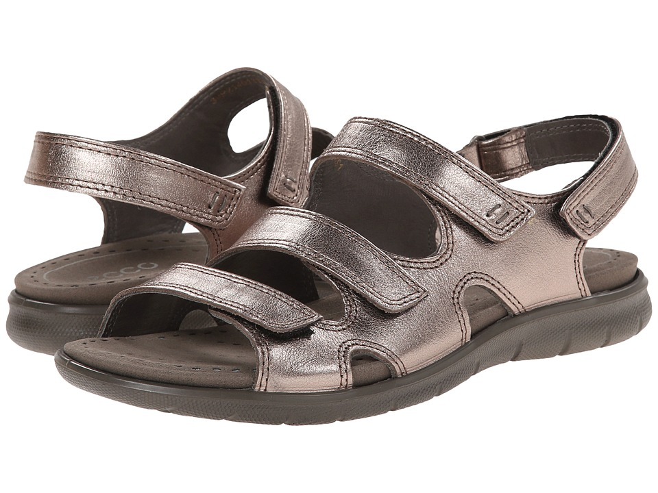 ECCO - Babette Sandal 3-Strap (Warm Grey 2) Women's Shoes