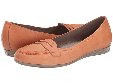 ECCO - Touch 15 Penny Loafer (Coral) Women