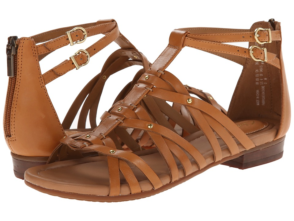 Clarks - Viveca Rome (Cognac Leather) Women's Sandals
