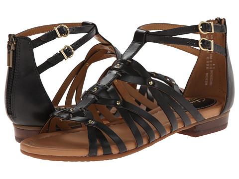 Clarks - Viveca Rome (Black Leather) Women's Sandals