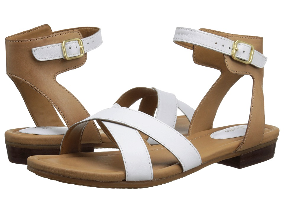 Clarks - Viveca Zeal (White Leather) Women's Sandals