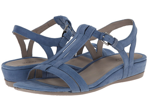 ECCO - Touch 25 T-Strap Slide (Retro Blue) Women