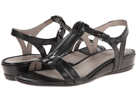 ECCO - Touch 25 T-Strap Slide (Black) Women's Shoes