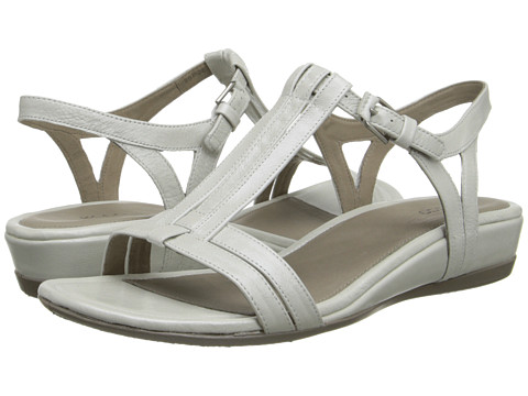 ECCO - Touch 25 T-Strap Slide (White) Women