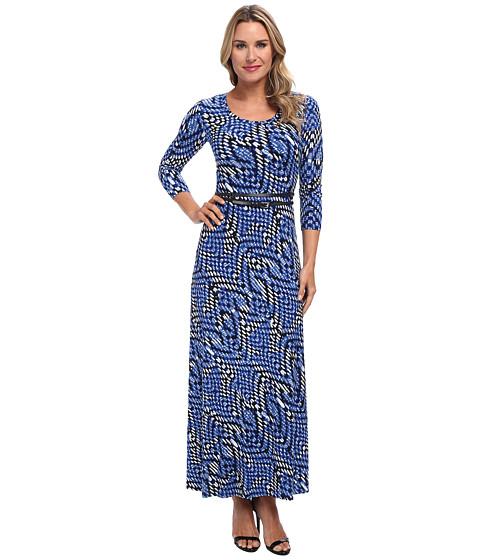 Calvin Klein - Matte Jersey Printed Maxi Dress (Celestial/Birch Multi) Women