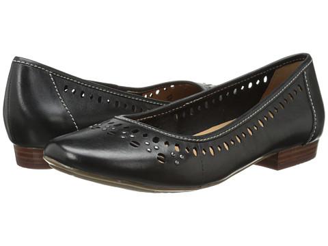 Clarks - Lockney Hot (Black Leather) Women's Flat Shoes