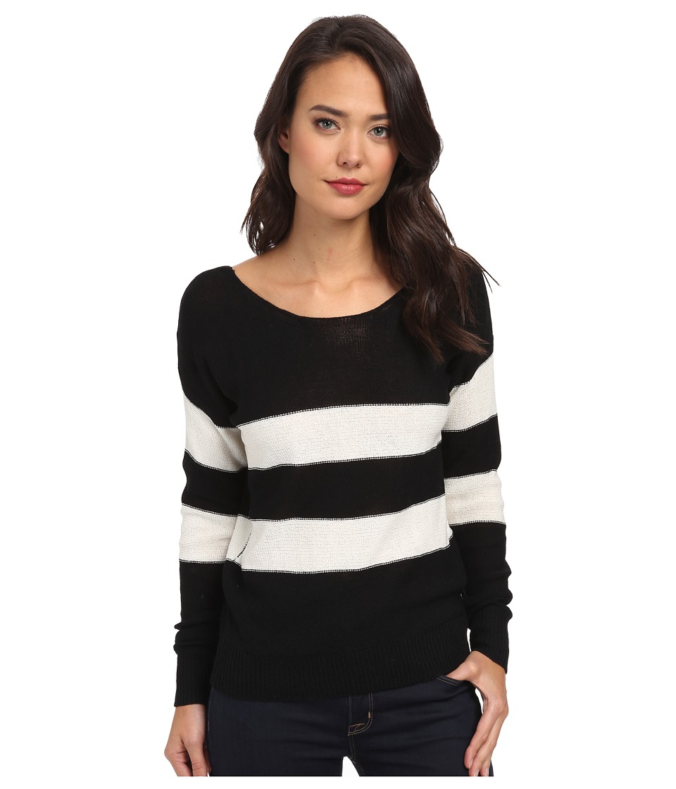 Gabriella Rocha - Stripe Sweater (Black) Women's Sweater