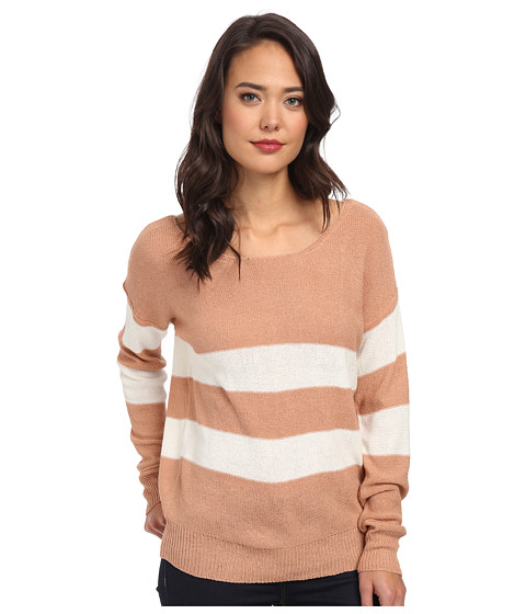 Gabriella Rocha - Stripe Sweater (Peach) Women's Sweater