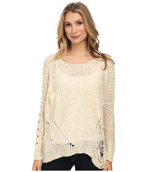 Gabriella Rocha - Long Sleeve Sweater (Ivory) Women
