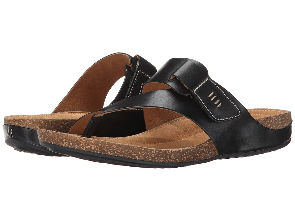 Clarks - Perri Coast (Black Leather) Women's Shoes