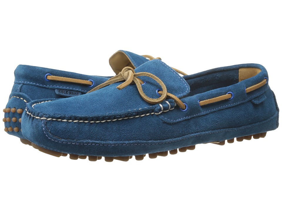 Cole Haan - Grant Canoe Camp Moc (Azure Suede) Men's Slip on Shoes