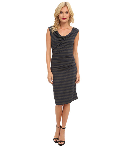 Nicole Miller - Striped Jersey Dress (Blue Grey) Women's Dress