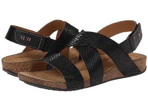 Clarks - Perri Dunes (Black Snake Suede) Women's Sandals
