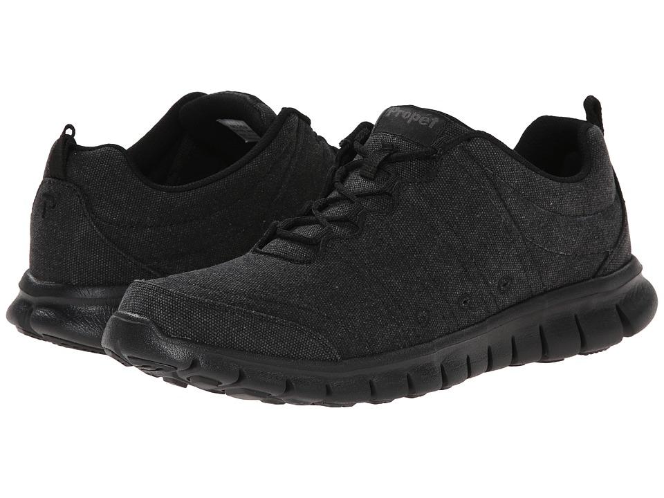 Propet - McLean Canvas Tie (Black) Men's Lace up casual Shoes