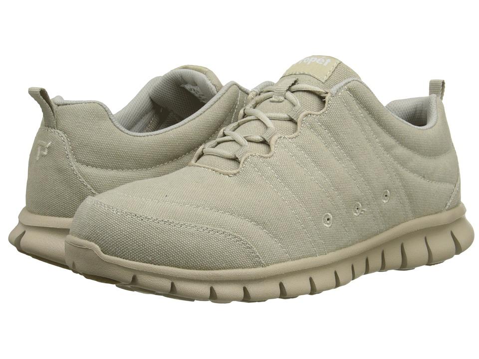 Propet - McLean Canvas Tie (Sand) Men's Lace up casual Shoes