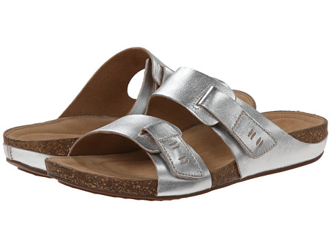 Clarks - Perri Island (Silver Leather) Women's Shoes