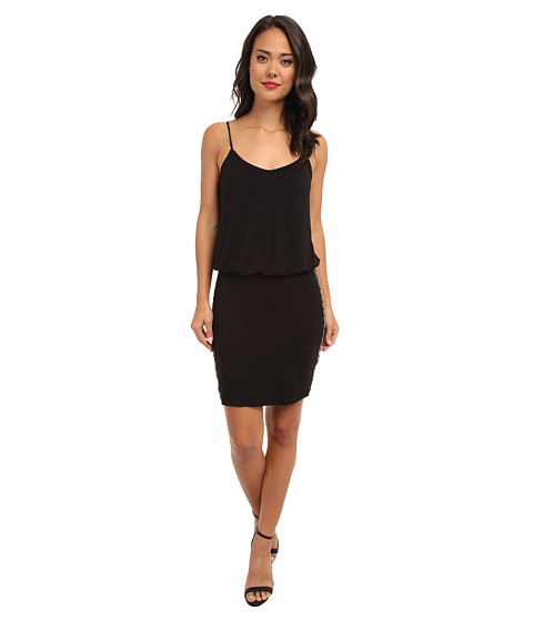 Gabriella Rocha - Spaghetti Strap Dress w/ Rhinestones (Black) Women's Dress