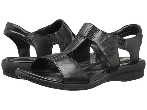 Clarks - Reid Delmar (Black Leather) Women's Sandals