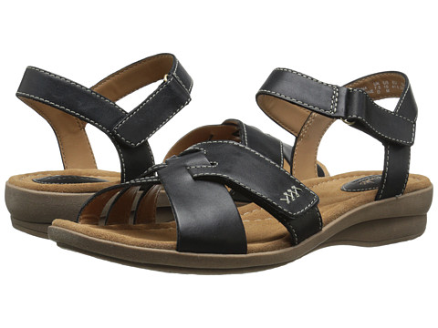 Clarks - Reid Laguna (Black Leather) Women's Sandals