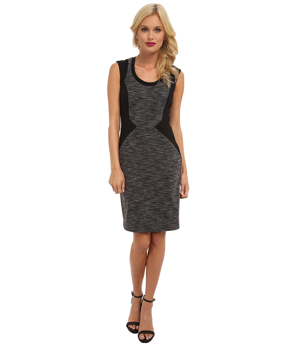Nicole Miller - Striped Ponte Dress (Grey Multi) Women's Dress