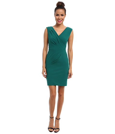 Nicole Miller - Textured Stretch Woven Dress (Green) Women