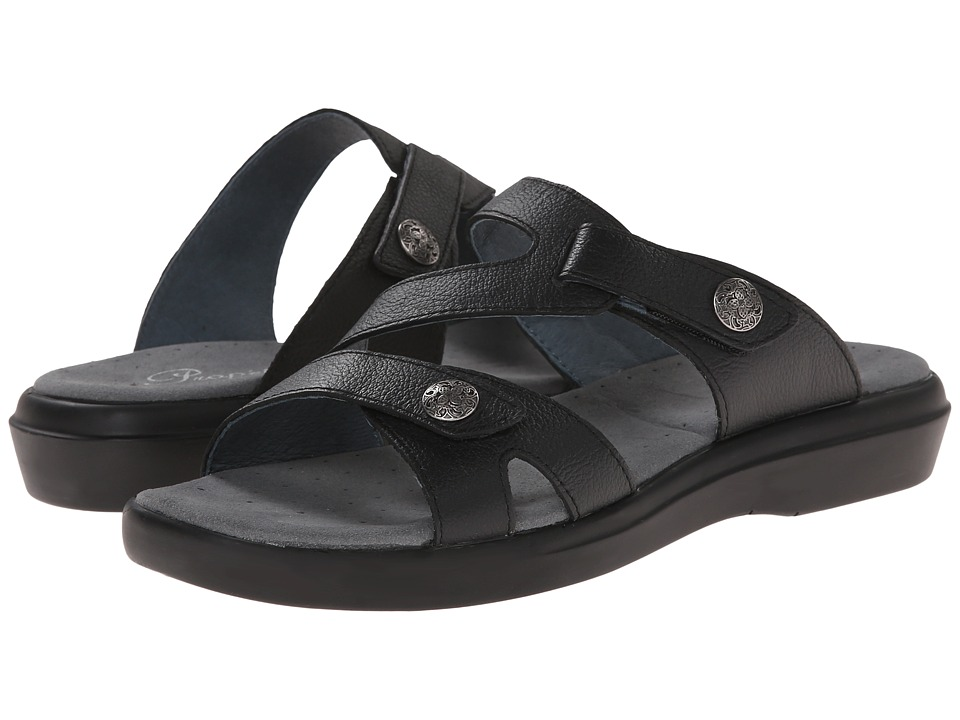Propet - St. Lucia (Black Grain) Women's Sandals