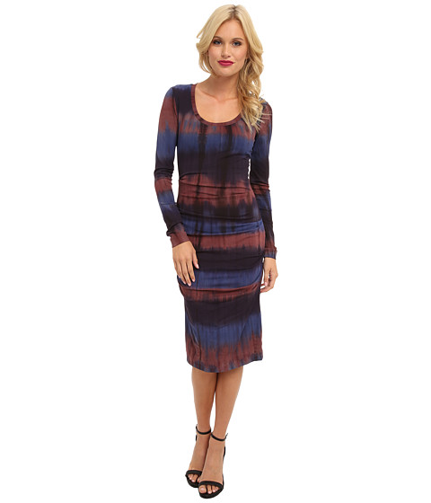 Nicole Miller - Tie-Dye Crepe Dress (Plum) Women