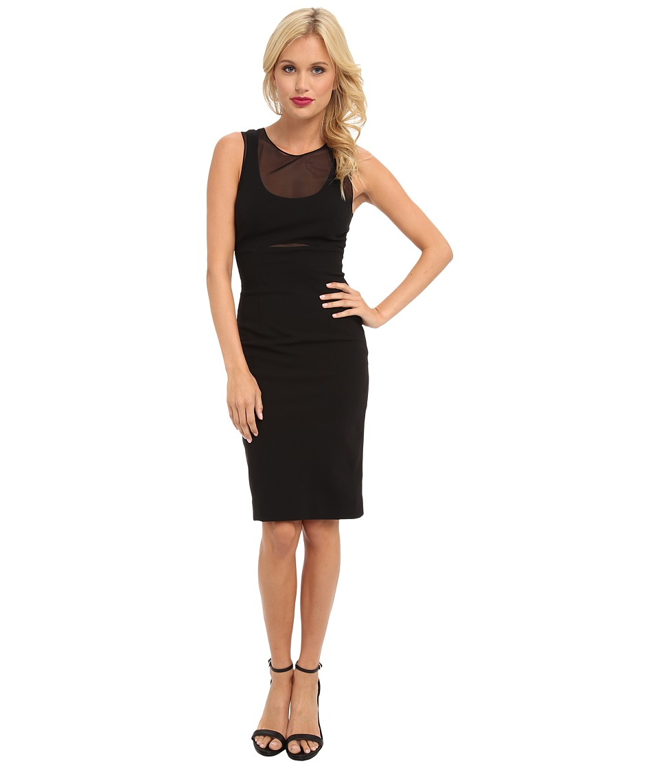Nicole Miller - Structured Heavy Jersey Dress (Black) Women's Dress