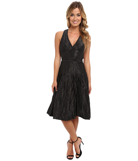 Nicole Miller - Metal Taffeta Dress (Black) Women's Dress
