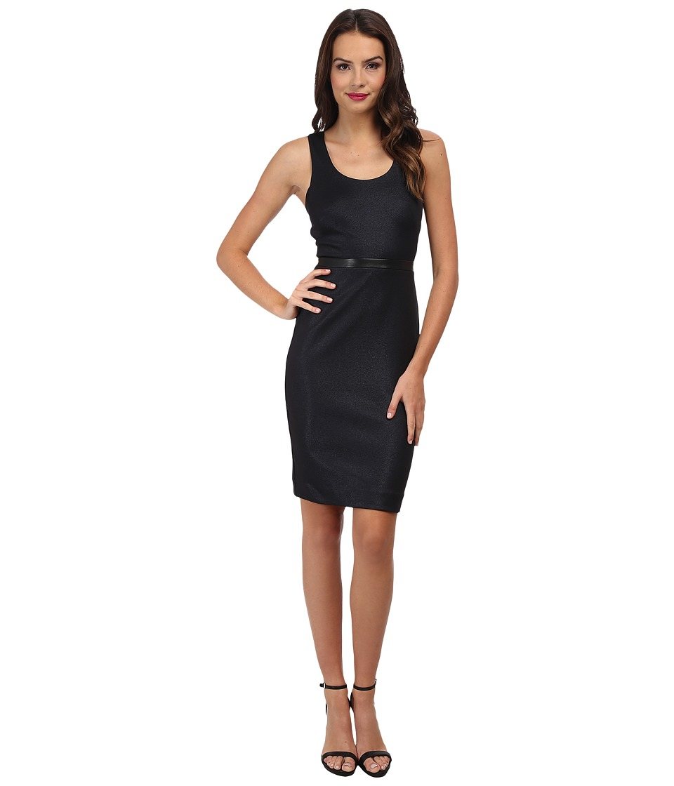 Nicole Miller Glazed Rib Ponte Dress (Navy) Women