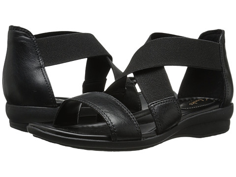 Clarks - Reid Solana (Black Leather) Women's Sandals