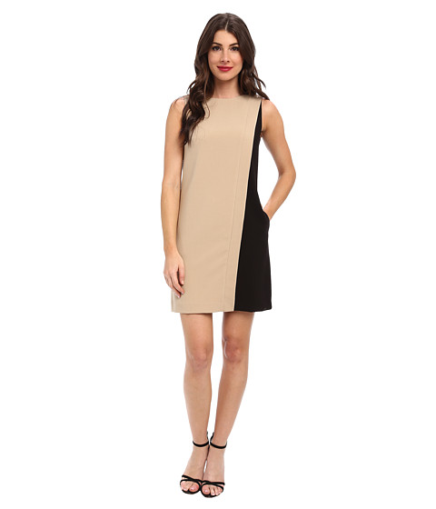 Tahari by ASL - Kingston - P (Toast/Black) Women's Dress