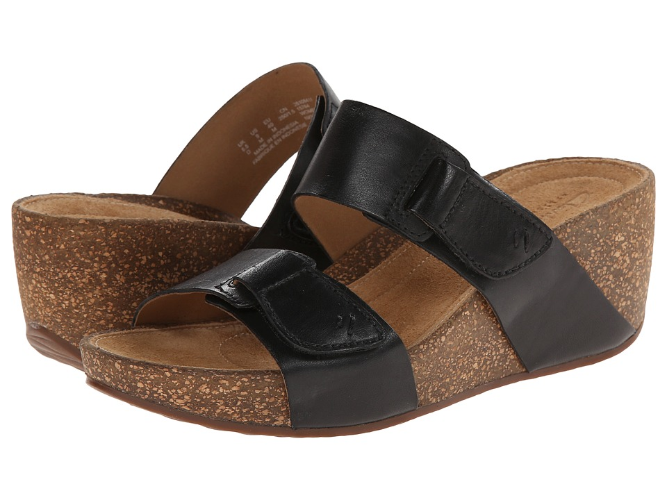 Clarks - Temira East (Black Leather) Women's Sandals