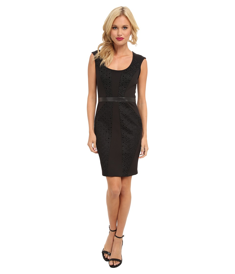 Nicole Miller - Open Tech Weave Dress (Black) Women