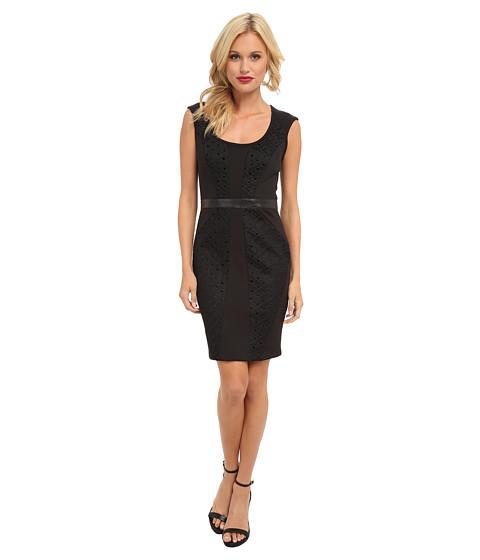 Nicole Miller - Open Tech Weave Dress (Black) Women's Dress