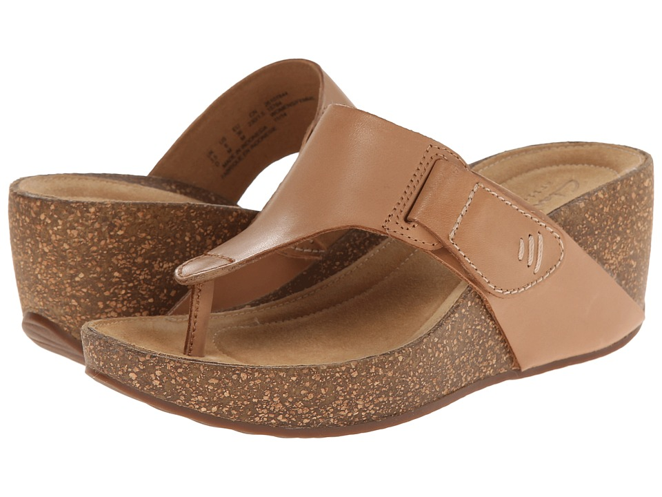 Clarks - Temira West (Beige Leather) Women's Sandals