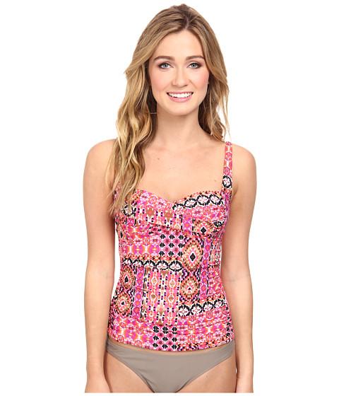 La Blanca - Perfect Patch OTS Sweetheart Tankini (Pink) Women's Swimwear